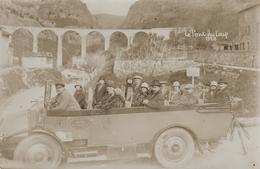 CARTE PHOTO - TOURRETTE-SUR-LOUP - ALPES MARITIMES - AUTOBUS OUVERT - LE PONT - Autres Communes