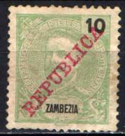 ZAMBEZIA - 1911 - EFFIGIE DEL RE CARLO CON SOVRASTAMPA REPUBLICA - Zambèze