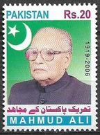 PAKISTAN 2020 STAMPS PIONEER OF FREEDOM MAHMUD ALI  MNH - Pakistan