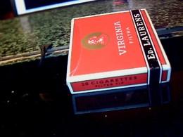 Publicité Ancienne Boite En Carton De Cigarette Vide Belge  Marque Ed.LAURENS Virginia Filter Tip - Cigarettes - Accessoires