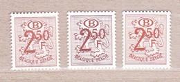 1952 Nr S56A P2 + P6 + P7** Zonder Scharnier.Heraldieke Leeuw - Officials