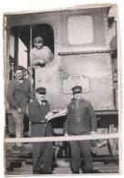 Locomotive P.L.M. C.1930 Cheminots Photo Chemin De Fer - War, Military