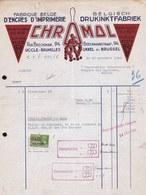 FACTURE DE 1940 - * ENCRES D' IMPRIMERIE - CHRAMOL UCCLE BRUXELLES - ART DECO - Printing & Stationeries