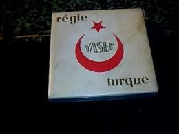 Publicité Ancienne Boîte Paquet En Carton De Cigarette Vide De  Turquie Marque   Regie YASET - Cigarettes - Accessoires