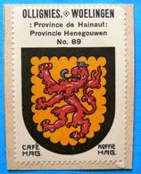Hainaut N089 Ollignies Woelingen Wielingen Lessines Timbre Vignette 1930 Café Hag Armoiries Blason écu TBE - Tea & Coffee Manufacturers