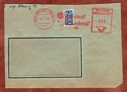 Brief, Absenderfreistempel, Vorausentwertete Notopfermarke, NITAG, 20 Pfg, Frankfurt 1955 (91372) - BRD
