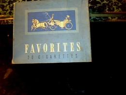 """Publicité Ancienne Boite Paquet En Carton De Cigarette Vide Régie Française SEITA Marque  """"Favorites """" CAPORAL - Cigarettes - Accessoires"""