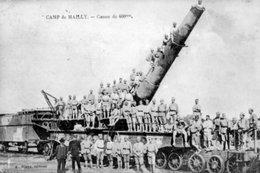 MILITARIA - CAMP DE MAILLY < Vue Animée Du CANON DE 400mm - Caserme