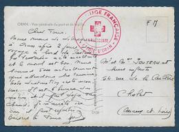 Cachet  Croix Rouge Française  Comité D' Oran - War Of Algeria