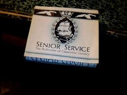 """Publicité Ancienne Boite En Carton De Cigarette Vide Anglaise Marque """" SENIOR- SERVICE """" - Cigarettes - Accessoires"""