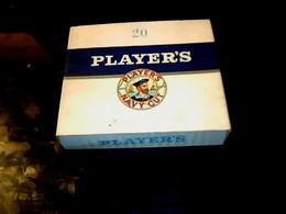 """Publicité Ancienne Boite Paquet  En Carton De Cigarette   Anglaise Vide  """"PLAYERS NAVY OUT"""" - Cigarettes - Accessoires"""