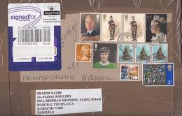 Great Britten Cover/card Stamps Flora    (A - 6200) - 1952-.... (Elizabeth II)