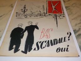 ANCIENNE PUBLICITE MOI J AI DES BAS SCANDALE 1951 - Autres