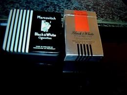 Publicité Ancienne Boite En Carton De Cigarette Vide Blak & White & Une Boîte En Métal Marcovitch** De La Même Marque - Etuis à Cigarettes Vides