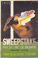 Cpa -sport -hippisme-prix De L'arc De Triomphe 1935-illustrateur Cassandre - Hippisme