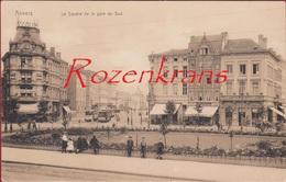 Antwerpen Bolivarplaats Plein Voor Het Zuidstation Le Square De La Gare Du Sud Tram Tramway (In Zeer Goede Staat) - Antwerpen