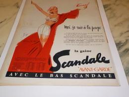 ANCIENNE PUBLICITE JE SUIS A LA PAGE GAINE SCANDALE  1956 - Autres