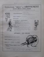 Matériel Contre L'Incendie SICLI Extincteur Par Renversement - Page Catalogue Technique De 1925 (Dims Env 22 X 30 Cm) - Planches & Plans Techniques