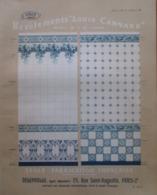 """Revêtement  CARRELAGE """"Louis CANNARD""""  Ets DEPOUILLE  à Paris - Page Catalogue Technique De 1925 (Dims Env 22 X 30 Cm) - Architecture"""