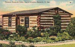 THEODORE ROOSEVELT CABIN-CAPITOL GROUNDS-BISMARCK ,N. DAK-1948 - Bismark