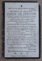 Justina De Doncker - Lichtaert 27 Februari 1845 - 11 Januari 1911 - Décès