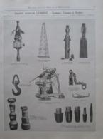 Matériel De Sondage Pour Puits De Mines ETs LEMOINE à Liège  - Page Catalogue Technique De 1925 (Dims Env 22 X 30 Cm) - Travaux Publics