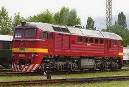 Diesel Locomotive No.T679 1168 (Originalfarbe) Of Slowakischen Eisenbahnen (ZSR)  In Pressburg 2011 -  CPM - Trains