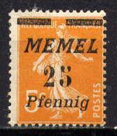MEMEL - 51* - TYPE SEMEUSE - Unused Stamps