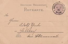 Deutsches Reich / 1887 / K1 MOECKERN/Leipzig Auf Postkarte (AG89) - Deutschland