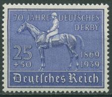 Deutsches Reich 1939 70 Jahre Deutsches Derby 698 Mit Falz - Deutschland
