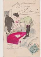 Cpa Fantaisie Humoristique Signée G.Mouton  / Encore Un Terme De Payé !!! Femme De Petite Vertu - Andere Zeichner