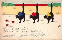 CPA Trois P'tits Chats Désirent Vous Porter Bonheur - Otros Ilustradores