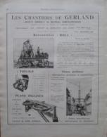 """BETONNIERE & TREUIL  """" ROLL"""" Chemin De Gerland à Lyon   - Page Catalogue Technique De 1925 (Dims Env 22 X 30 Cm) - Travaux Publics"""