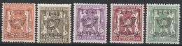 Preo Serie Nr 36 Pre 589/593  ** 1949 - Prematasellados