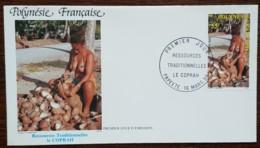 Polynésie - FDC 1989 - YT N°326 - Ressources Traditionnelles / Le Coprah - FDC