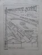 Architecture Industrielle  Ets BONNET à Marseille Bd De Paris   - Page Catalogue Technique De 1925 (Dims Env 22 X 30 Cm) - Travaux Publics