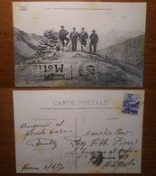 Douane Rencontre D'Alpins Italiens Et Français Au Mamelon Frontière - 1497 Reynaud Viaggiata 1950 Anni '50 - Francia