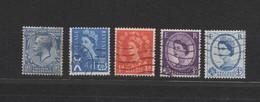 Großbritannien / UK, 5 Verschiedene Freimarken Gestempelt, 5 Definitives Used - 1952-.... (Elizabeth II)