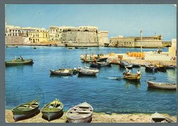°°° Cartolina - Gallipoli Antico Porto- Castello Viaggiata °°° - Lecce