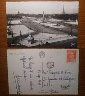 Paris Parigi Place De La Concorde - Non Viaggiata 1947 Anni '40 Francia France - Piazze
