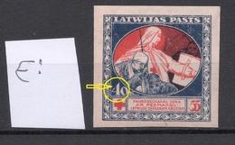 "LATVIA Lettland 1921 Michel 52 X ERROR Abart Variety = ""4"" Opened At Left * - Lettonie"