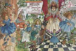 Carte Postale 22 Salon Du Livre Et Des Vieux Papiers Melun 2020 ILLUSTRATEUR CARMONA ALICE AU PAYS DES MERVEILLES - Postcards