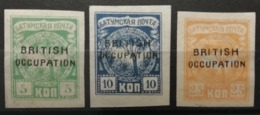 Batoum 1919 / Yvert N°7-9 / * - 1919-20 Occupation: Great Britain