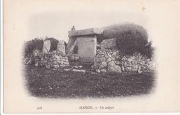 CARTE POSTALE ANCIENNE CAMPAGNE 1902 DU DUGUAY TROUIN ILES BALEARES ESPAGNE MAHON UN TALAYOT EDITIONS / N° 308 - Espagne