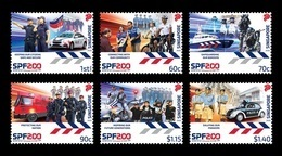 Singapore 2020 Mih. 2651/56 Singapore Police Force. Automobiles. Bicycles. Motorcycles. Boat MNH ** - Singapour (1959-...)