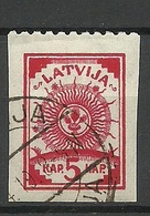 LETTLAND Latvia 1919 Michel 16 Upper Margin Perforated 9 3/4 O - Lettonie