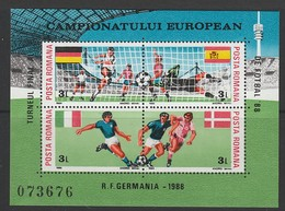 2 BLOCS NEUFS DE ROUMANIE - CHAMPIONNAT D'EUROPE DE FOOTBALL EN R.F.A. N° Y&T 195/196 - Championnat D'Europe (UEFA)
