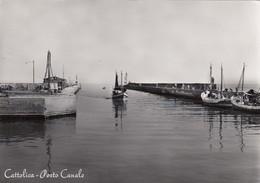 CATTOLICA-RIMINI-PORTO CANALE-CARTOLINA VERA FOTOGRAFIA- VIAGGIATA IL 4-8-1959 - Rimini