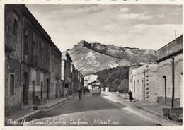 PAPARELLLA-TRAPANI-CORSO BELVEDERE IN FONDO MONTE RERICE-CARTOLINA VERA FOTO NON VIAGGIATA ANNO 1955 - Trapani