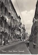 TRAPANI-CORSO VITTORIO EMANUELE-CARTOLINA VERA FOTO VIAGGIATA IL 10-4-1963 - Trapani